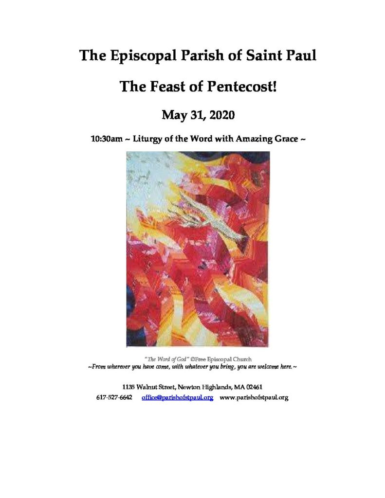 Final Pentecost Litury of the Word 2020